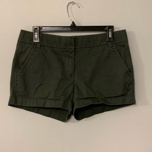 Forest green J Crew Chino Shorts sz 4